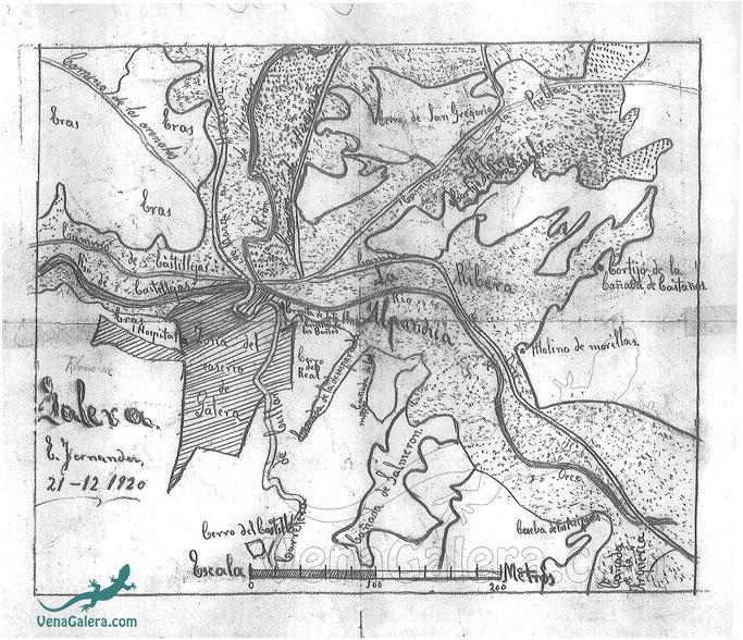plano galera antiguo 1920 siglo XX