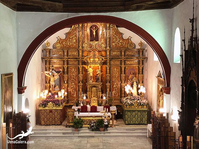 altar mayor iglesia parroquial de galera trono cristo expiración virgen dolores