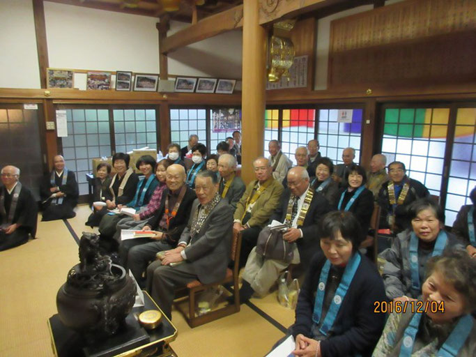 広島・福山の浄土真宗 南光坊にて赤川浄友が法話を行った。