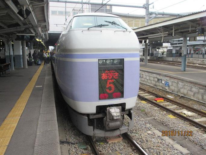 長野・松本の浄土真宗 安養寺への交通手段は特急「あずさ」