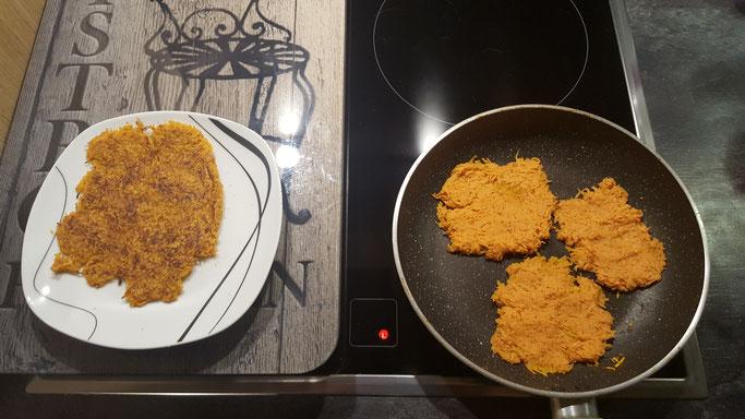 Arnaud vous propose sa première recette sur le blog: des galettes de patates douces!