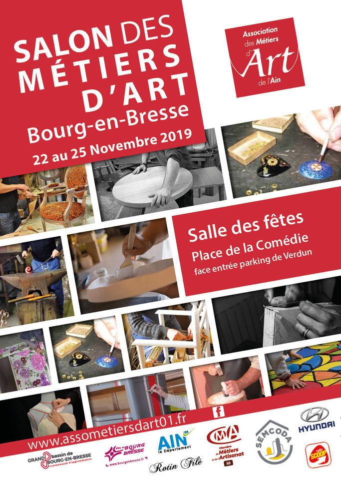 Bourg en Bresse Salon des métiers d'art 01 22 au 25 novembre 2019