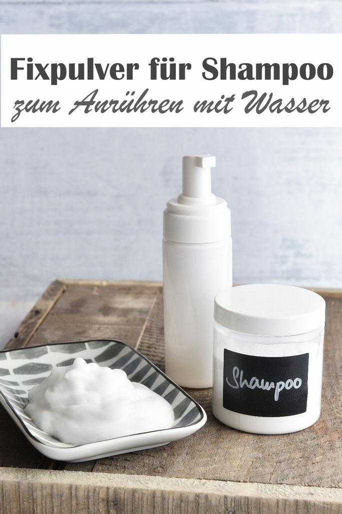 Fixpulver für Shampoo zum Anrühren in Wasser, selbst gemacht