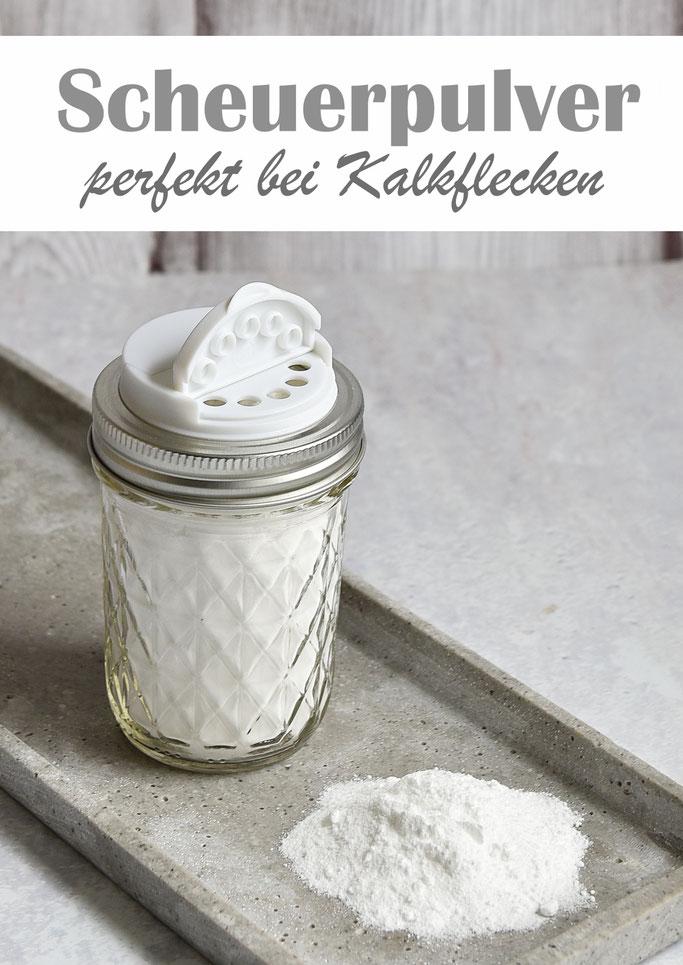 Scheuerpulver, perfekt bei hartnäckigem Kalk, aus Kernseife, Salz und Natron, selbst gemacht, Thermomix