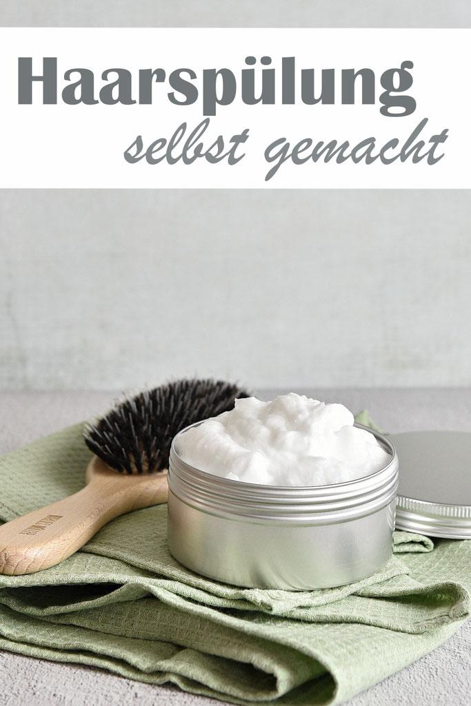 Haarspülung selbst gemacht, für bessere Kämmbarkeit, mehr Glanz und Feuchtigkeitsspende, kann auch als Haarkur verwendet werden, Thermomix Rezept