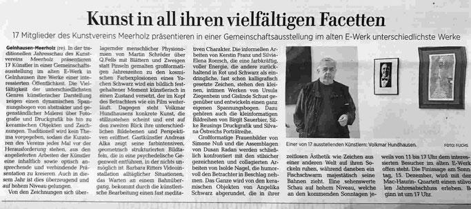 """Sonderausstellung des Kunstverein Meerholz, im alte E-Werk Gelnhausen. Gastkünstler Andreas Alka alias """"FLoYd"""" ist einer der 17 Künstler."""