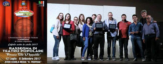 """i Frastornati premiati alla IV edizione della Rassegna di Teatro Popolare """"Premio Totò D'Ippolito"""""""