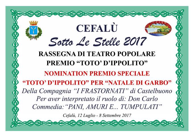 Nomination Premio Speciale Totò D'Ippolito