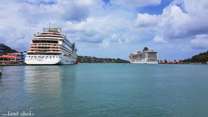 St. Lucia Kreuzfahrt Hafen Ausflug auf eigene Faust
