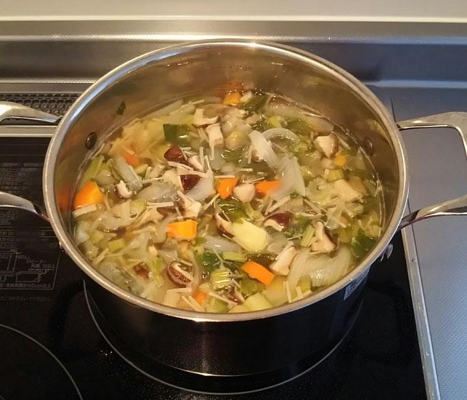 大分市 みつか漢方養生堂 野菜スープで抗酸化力UP
