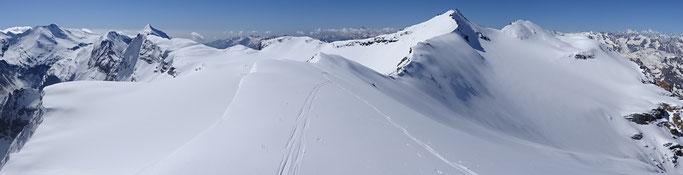 Roche Michel , ski de randonnée, guide maurienne, pente raide