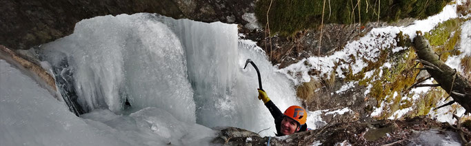 Classique Intégrale Orelle Cascade de glace maurienne guide