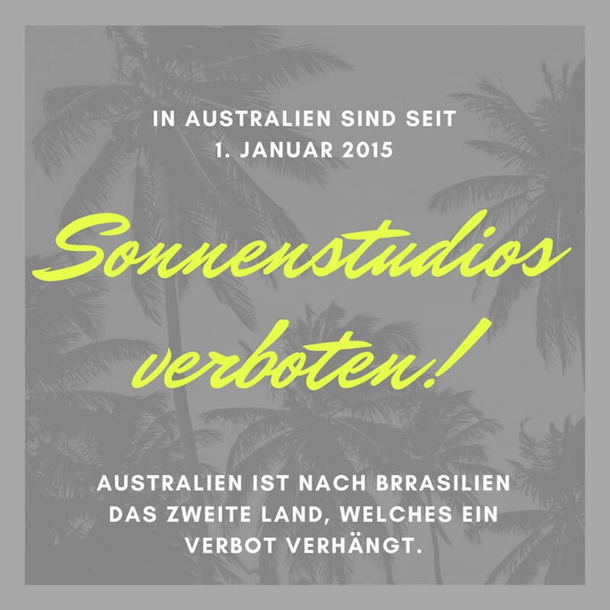 Bild: Sonnenstudios in Australien und Brasilien verboten