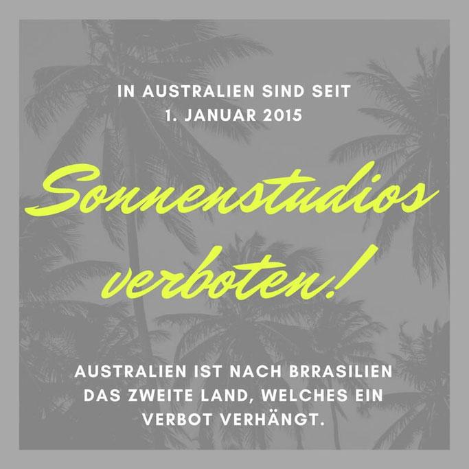 Bild: Sonnenstudios sind in Australien und Brasilien verboten