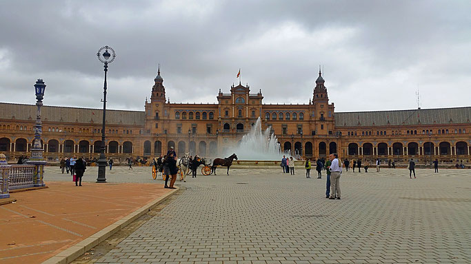 Plaza de España, Sevilla, Spanien, Spain, Sights,