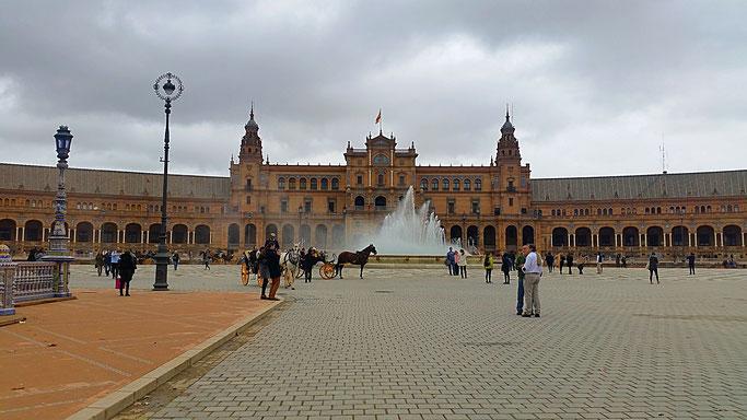 Plaza de España, Sevilla, Spanien, Spain, Sights,