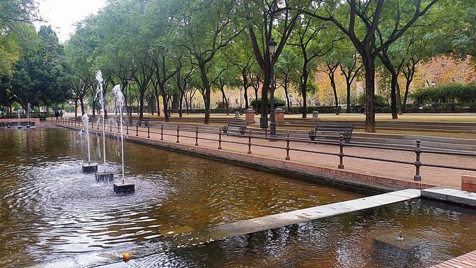 Parque Maria Luisa, Sevilla, Seville, Löwenbrunnen, Brunnen, Sehenswürdigkeiten