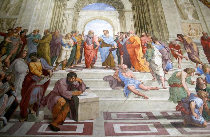 Raffael: Die Schule von Athen, 1510 bis 1511, Fresko, Stanzen des Raffael