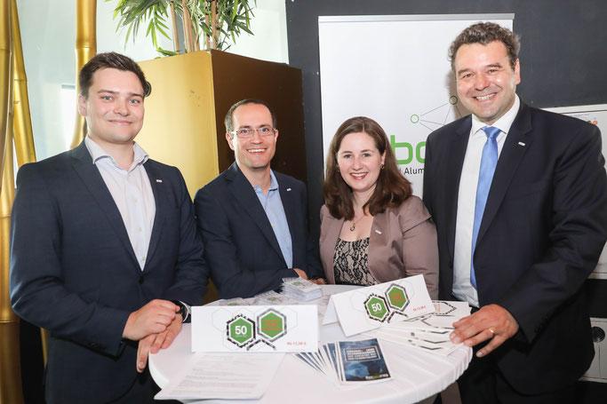 von links: Oliver Fellechner, Dr. Heiko Brandt, Stefanie Gerlich, Prof. Dr. Norbert Kockmann. Foto: Oliver Schaper