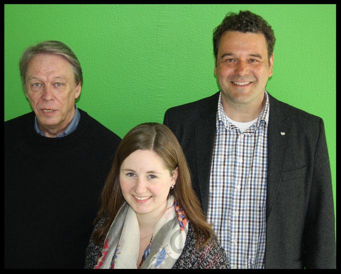 Von links: Günter Brockmann (Gründungsvorsitzender), Stefanie Dick (Schatzmeisterin) und Norbert Kockmann (stellvertretender Vorsitzender)