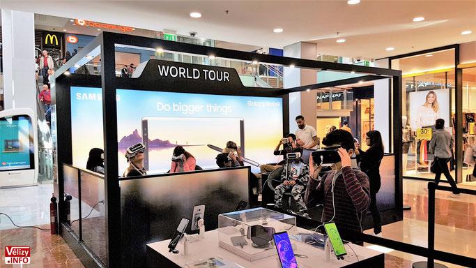 Centre commercial Vélizy 2 - Un tour du monde virtuel, confortablement installé dans un fauteuil. Vélizy 2, centre du monde ! © Vélizy Info