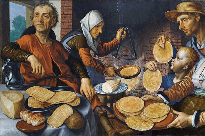 Les crêpes par Pieter Aertsen (1508-1575).