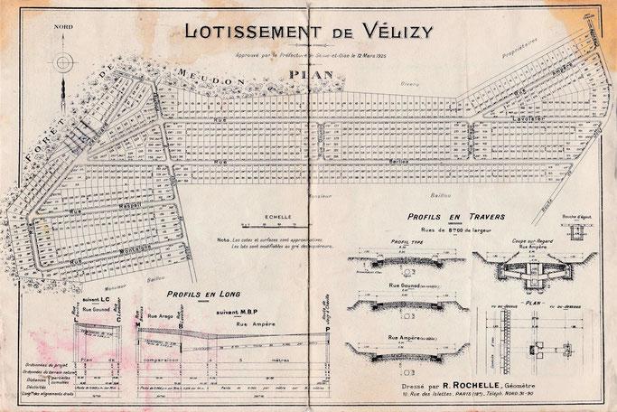 Plan du lotissement de Vélizy © Archive famille TISON