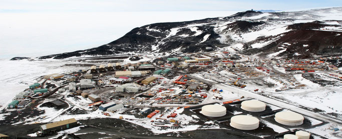 Base antarctique américaine McMurdo.