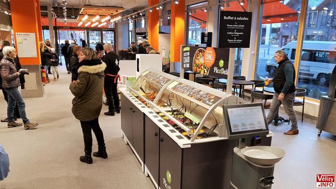 Franprix Louvois – Vélizy-Villacoublay. Buffet à salades PicaDeli.