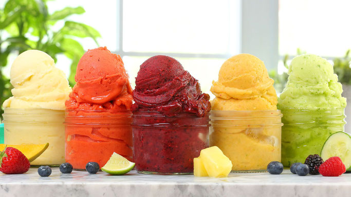 Sorbets aux fruits