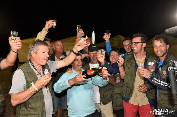 Champagne Tsarine au Gazelles and Men Rally 2019.