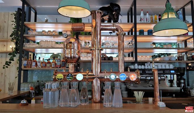 La pompe à bière du bar de La Villa Coublay.
