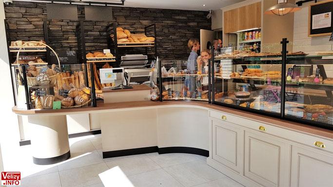 Nouvel aménagement de la boulangerie-pâtisserie Nicolas Aubin à Vélizy-Villacoublay.
