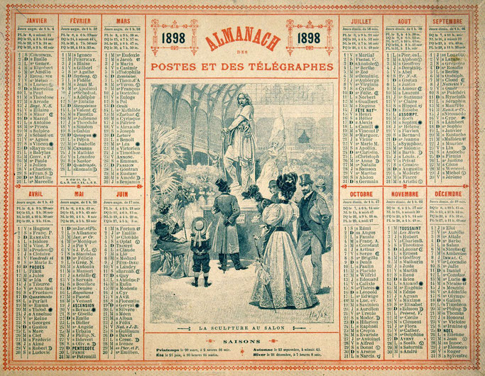 Almanach des Postes et des Télégraphes 1898.