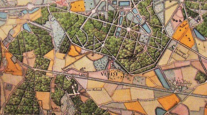 Vélizy - Extrait du plan de l'abbé de la Grive – 1740.