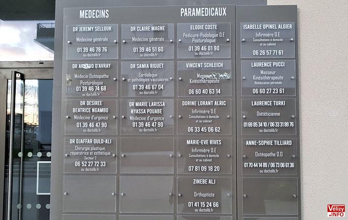 Médecins et paramédicaux du cabinet médical Louvois à Vélizy-Villacoublay.