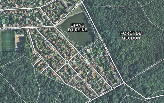 Étang d'Ursine à Vélizy-Villacoublay.