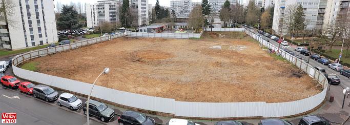 L'emplacement de l'ancien centre Marcel Pagnol - Vélizy-Villacoublay 2018.