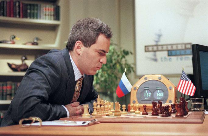 Le joueur d'échecs  Garry Kasparov en mai 1997.