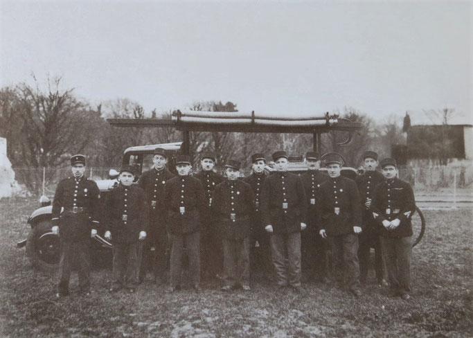Premier corps de sapeurs-pompiers à Vélizy.