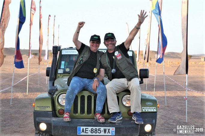 Fabienne Lalande-Burg et Pascal Burg, vendredi 08 novembre, lors de leur arrivée au bivouac du GAM 2019.