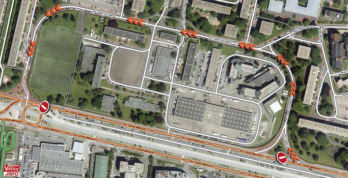 Plan de restriction de circulation - Fête du Printemps 2020 - Vélizy-Villacoublay.