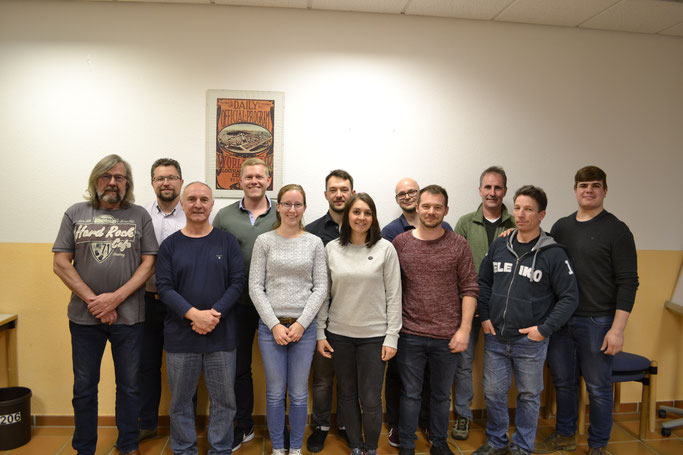 Der neu gewählte Vorstand des KSC 07 Schifferstadt.