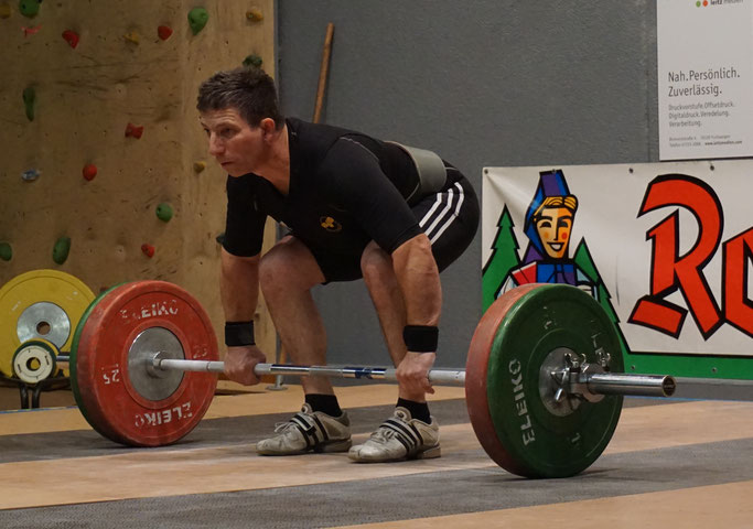 Volker Beuthling lieferte trotz Problemen im Stoßen einen starken Wettkampf