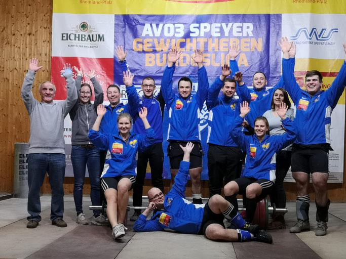 Die Tabellenspitze verloren, aber dennoch zufrieden: Die Mannschaft des KSC 07 Schifferstadt