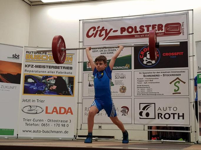 Moritz Fink errang einen starken 4. Platz in einer hochbesetzten Konkurrenz