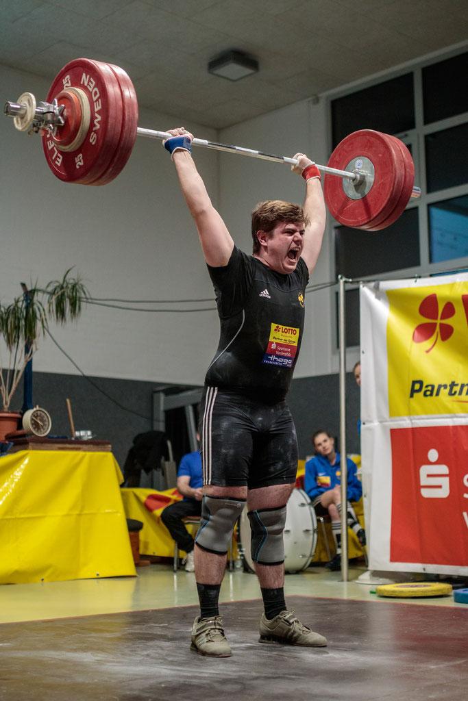 Sandro Krieger überzeugte mit starken Leistungen im Stoßen
