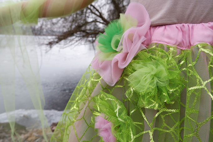 Faschingskostüm mit Tüllrock Elfe Tüllrock selbstgenäht Nähblog
