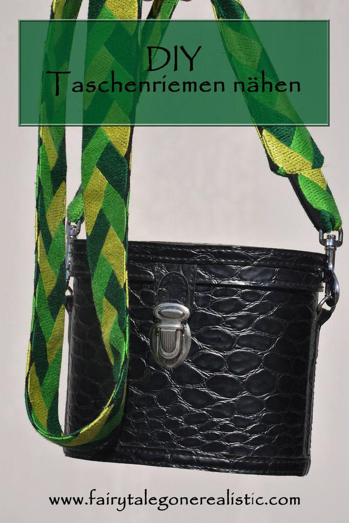 Taschenriemen nähen DIY Mode Schulterriemen selbstgenäht greenery nähblog Fairy Tale Gone Realistic Modeblog Passau