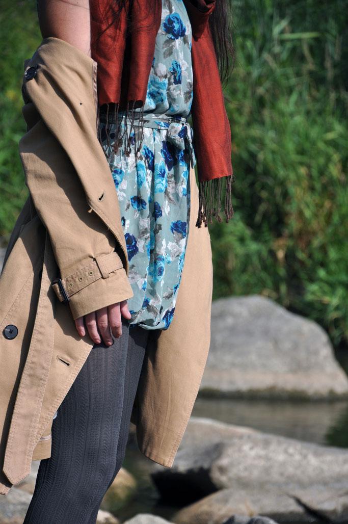 Kunterbunt Herbst moderne Pippi Langstrumpf Herbstoutfit Jumpsuit Second Hand Modeblog Fairy Tale Gone Realistic